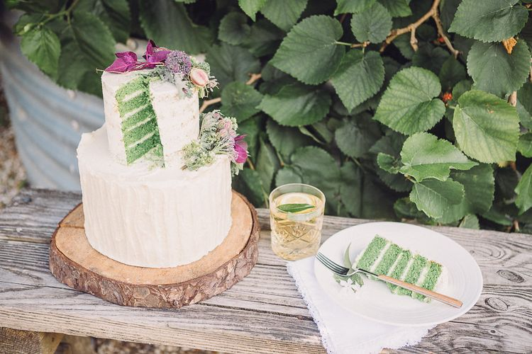 Green Layered Sponge Cake with White Frosting | Pastel Peter Rabbit Spring Inspiration at River Cottage | Beatrix Potter | Mr McGregor's Garden | Jennifer Jane Photography