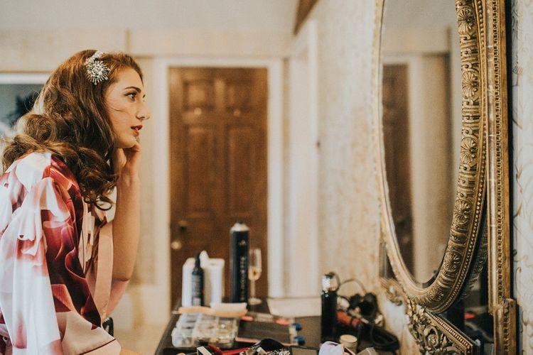 Vintage Victoria Millesime  Headpiece | Wedding Morning, Bridal Preparations | Vintage Dewsall Court Wedding | Kerry Diamond Photography