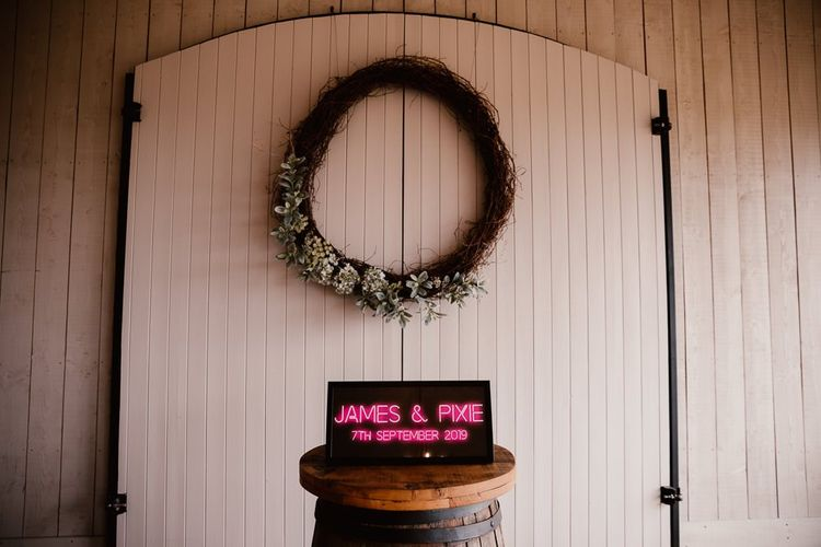 Personalised Neon Wedding Sign