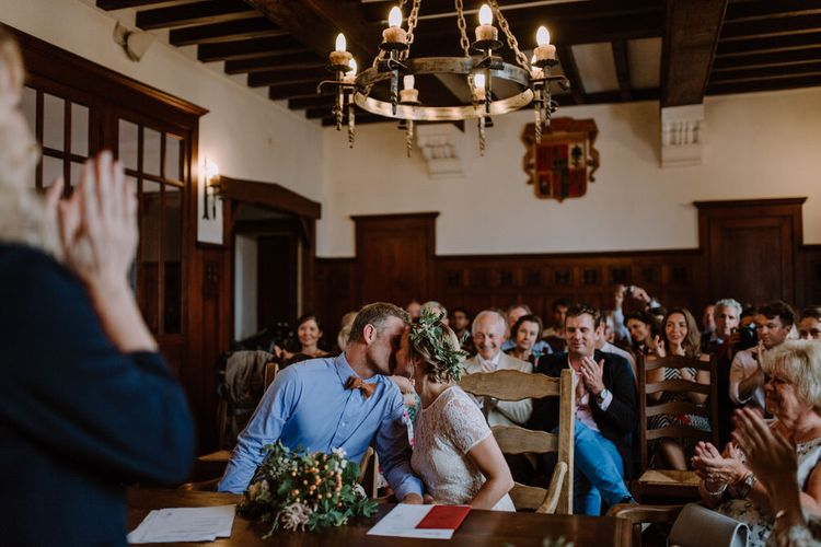 Getting Married In France // Legal Ceremony At Local Mairie // Planning & Styling By French Bague-ette // Image By Marine Marques