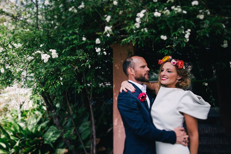 Bride in Flower Crown // Images By Travers And Brown