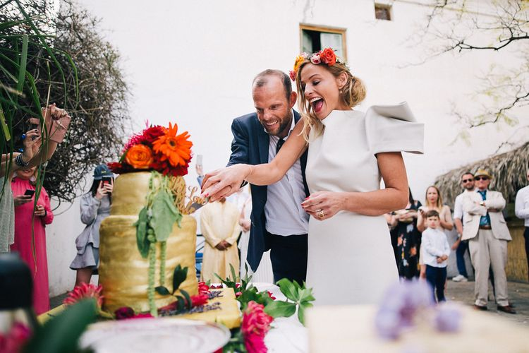 Pool Party Weekend Long Wedding In Spain With Bride In Flower Crown // Images By Travers And Brown // Exclusive Use Venue La Palacete de Cazulas in Andalusia