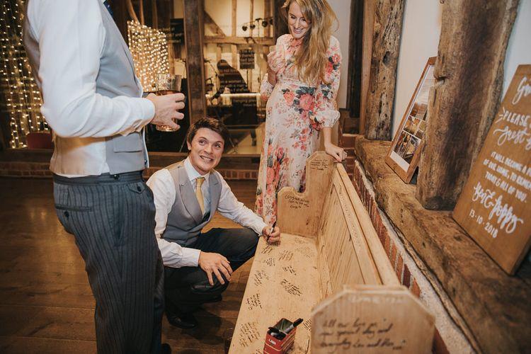Bench Alternative Wedding Guest Book