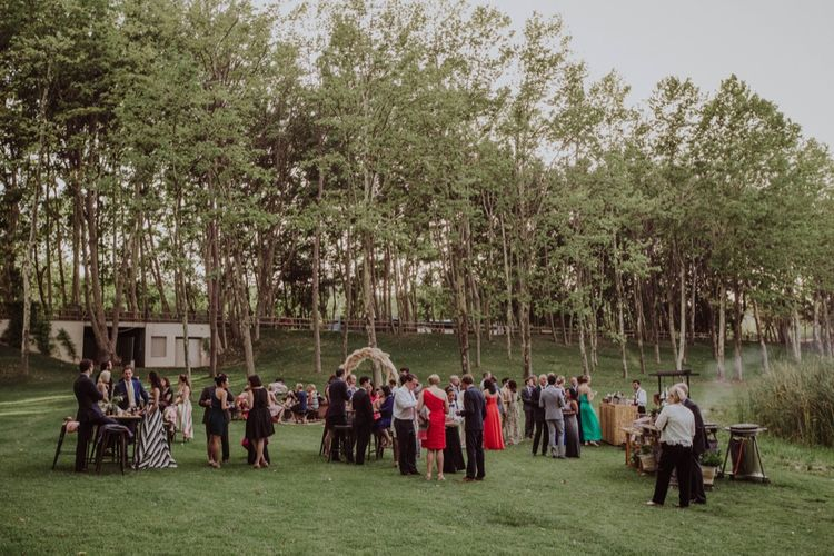 Wedding Guests | Outdoor Woodland Wedding at Sa Farinera de Sant LLuis Wedding Venue, Catalan Empordà, Spain | Planned & Styled by Mille Papillons | HUMà06 Photography | HUMà06 Photography