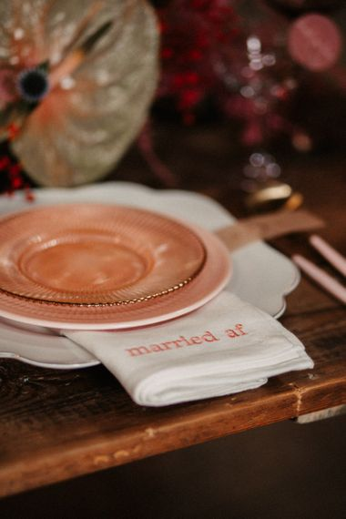 Embroidered Napkins for Place Setting