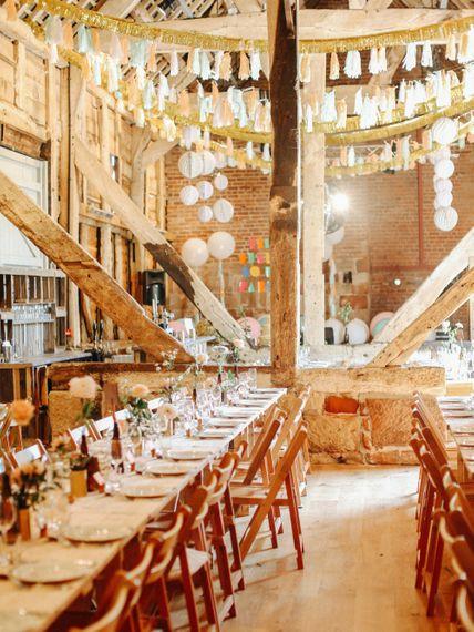 DIY Venue Decor // Handmade Details // Entertainment // Charlie Brear Bride // Pimhill Barn, Shrewsbury // Belle and Beau Fine Art Wedding Photography