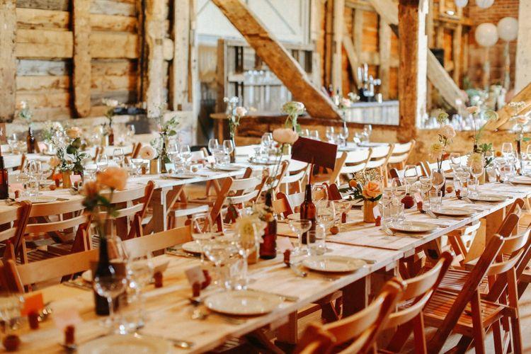 DIY Table Decor // Handmade Details // Entertainment // Charlie Brear Bride // Pimhill Barn, Shrewsbury // Belle and Beau Fine Art Wedding Photography