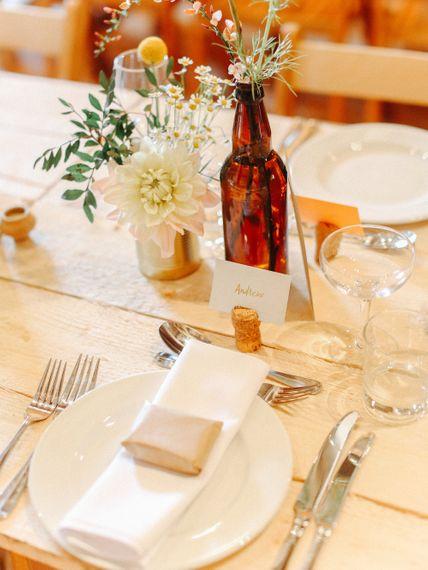 Table Decor // Handmade Details // Entertainment // Charlie Brear Bride // Pimhill Barn, Shrewsbury // Belle and Beau Fine Art Wedding Photography