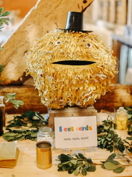 DIY Card Eating Pac Man // Handmade Details // Entertainment // Charlie Brear Bride // Pimhill Barn, Shrewsbury // Belle and Beau Fine Art Wedding Photography