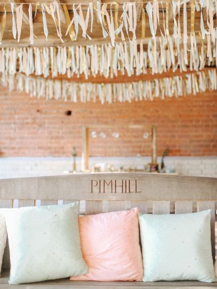 DIY Ribbon Tassels // Homemade Country Wedding // Entertainment // Charlie Brear Bride // Pimhill Barn, Shrewsbury // Belle and Beau Fine Art Wedding Photography