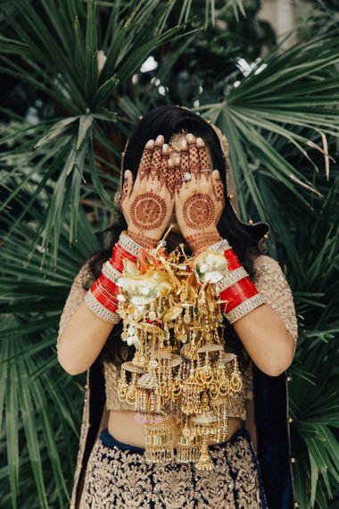 Indian Bride in Traditional Wedding Attire