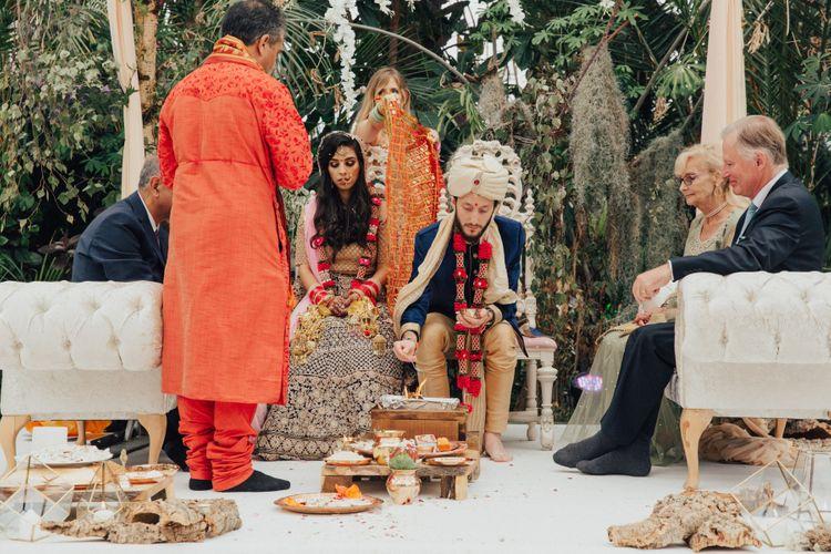 Indian Wedding Ceremony Under a Mandap