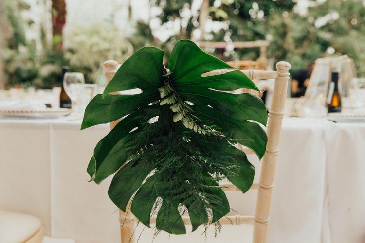 Giant Palm Leaf Chair back Decor