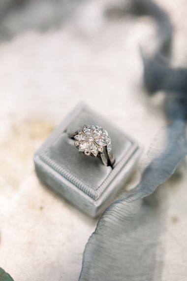 Vintage Engagement Ring // Chateau De Roussan St Remy Provence Wedding Venue With Joanne Flemming Dresses Fine Art Images From Jo Bradbury Photography