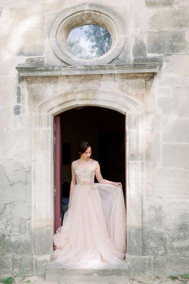 Joanne Flemming Wedding Dress // Chateau De Roussan St Remy Provence Wedding Venue With Joanne Flemming Dresses Fine Art Images From Jo Bradbury Photography