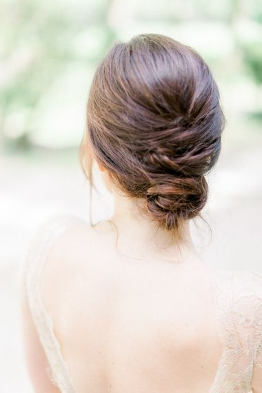 Elegant Chignon For Wedding // Chateau De Roussan St Remy Provence Wedding Venue With Joanne Flemming Dresses Fine Art Images From Jo Bradbury Photography