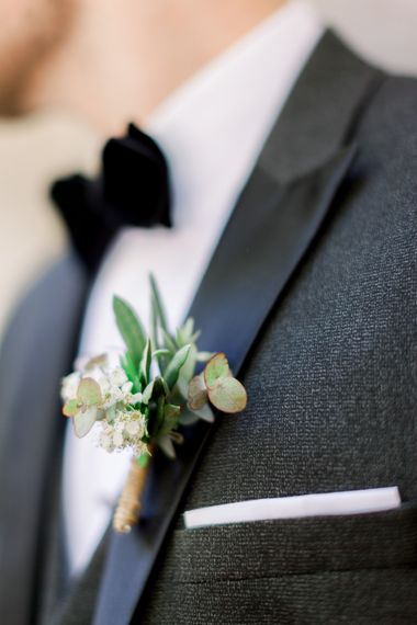 Groom In Black Tie // Chateau De Roussan St Remy Provence Wedding Venue With Joanne Flemming Dresses Fine Art Images From Jo Bradbury Photography