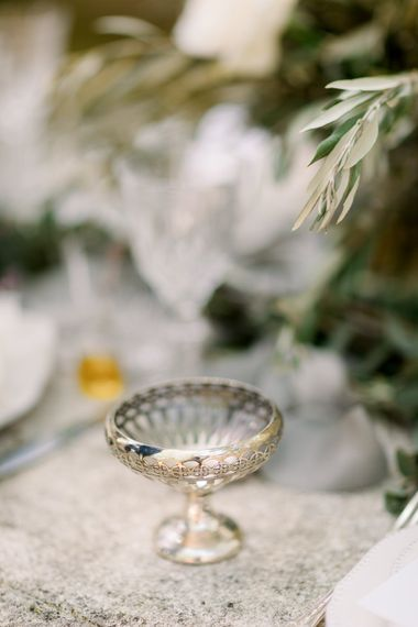 Vintage Champagne Saucer // Chateau De Roussan St Remy Provence Wedding Venue With Joanne Flemming Dresses Fine Art Images From Jo Bradbury Photography