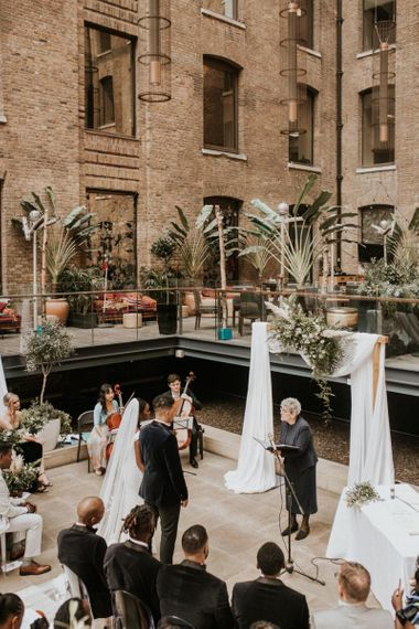 Rooftop London wedding at Devonshire Terrace