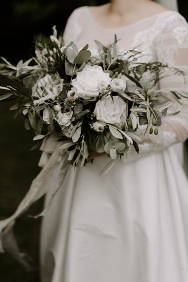 White Wedding Flowers with Foliage