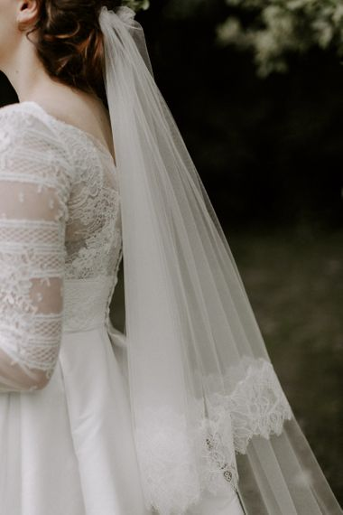 Jesus Peiro Wedding Dress Lace Detail with Veil