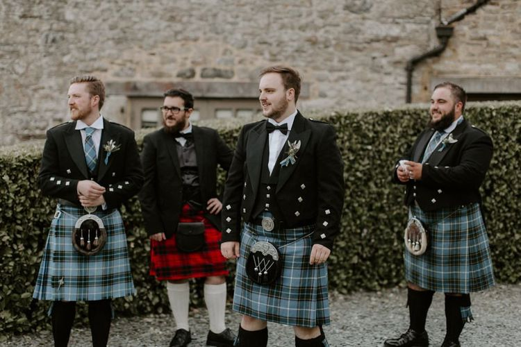 Groom and Groomsmen in Kilts