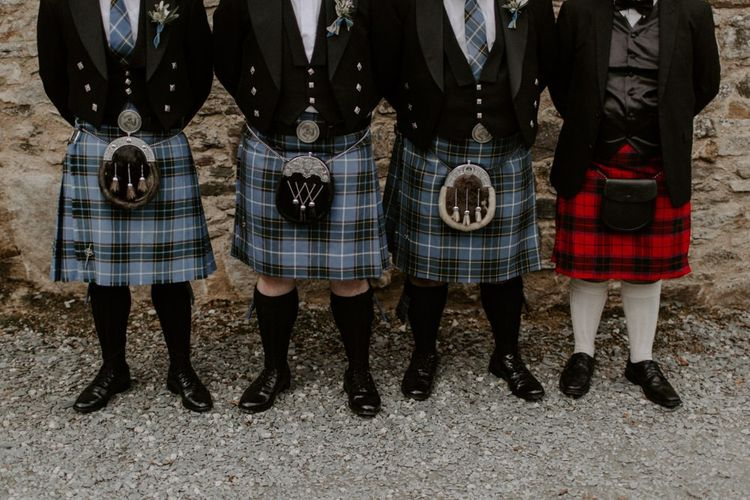 Groomsmen Kilts For Scottish& Cornish wedding