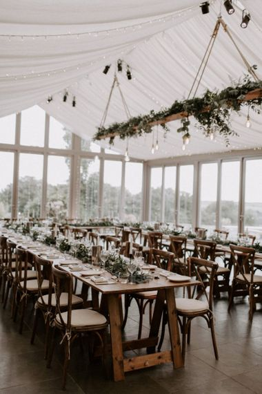 Trevenna Barn Wedding Reception  Set Up