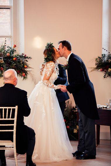Riki Dalal wedding dress for Iscoyd Park wedding