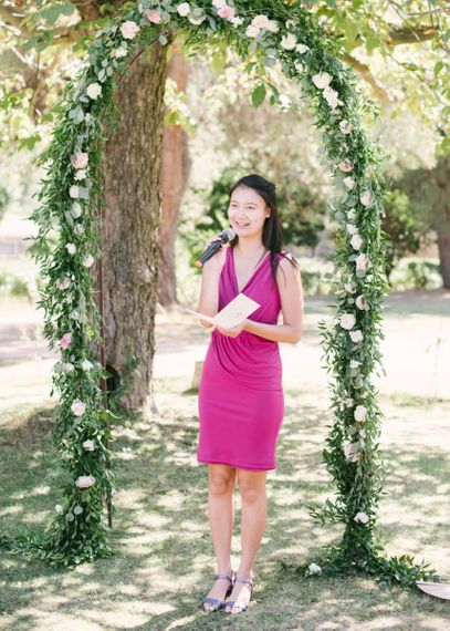 Wedding Readings during Outdoor Ceremony