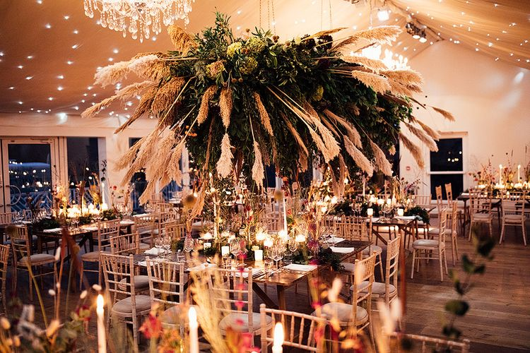 Stunning hanging floral installation