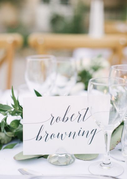 Calligraphy Table Name Cards