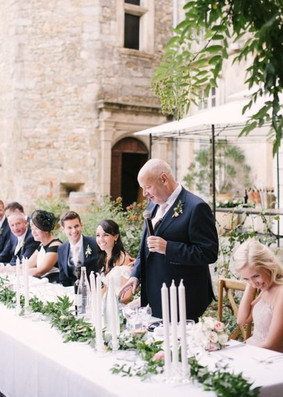 Father of The Bride Wedding Speech During Outdoor Reception