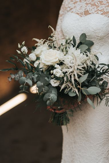 Devonshire Terrace London Wedding With Palm Leaf Motif And Flowers By Bloomantic With Images From Pear And Bear Photography