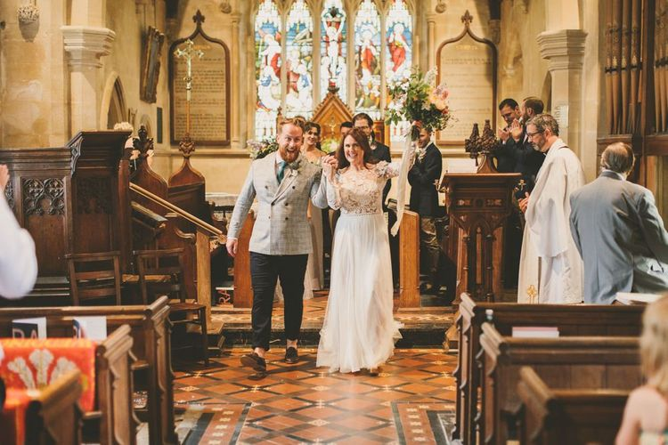 Church wedding ceremony in Devon