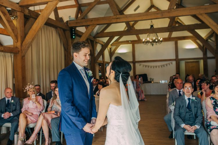 Wedding Ceremony at Sandhole Oak Barn, Cheshire