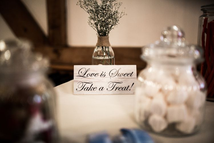 Love is Sweet Take a Treat Wooden Sign