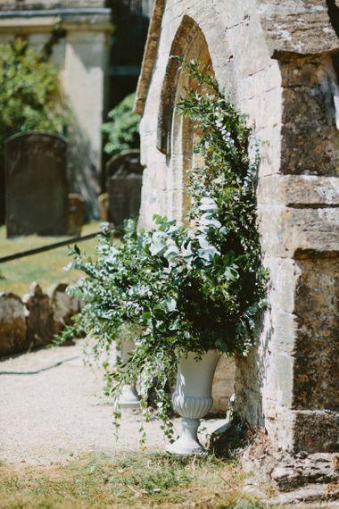 Foliage Church Floral Arrangements