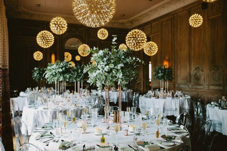 Cowley Manor Wedding Reception Decor