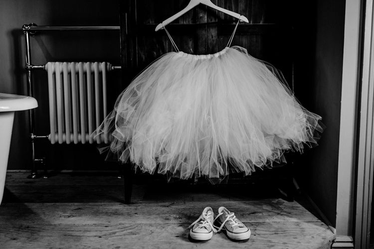 Tulle Skirt and Trainers for Flower Girl