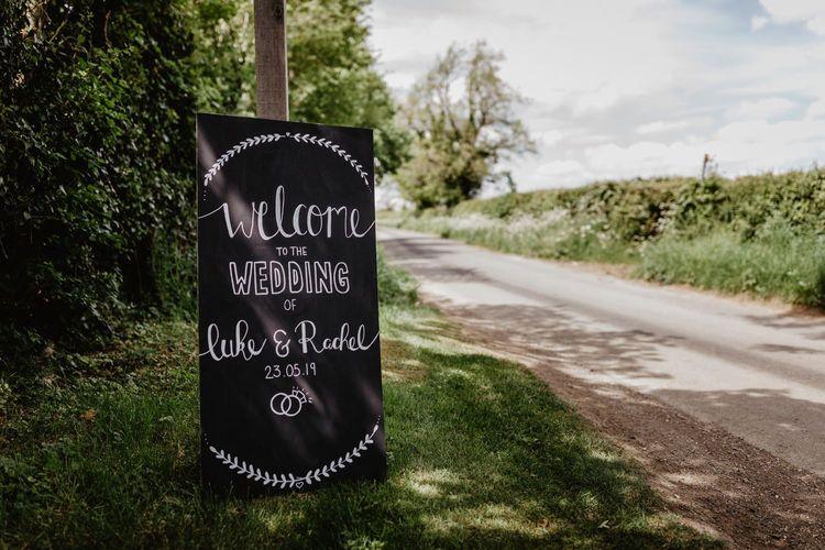Blackboard Wedding Welcome Sign