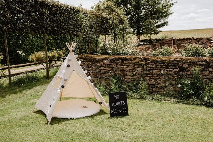 Tipi for Little Wedding Guests