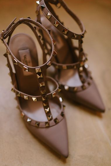 Valentino Rockstud Bridal Shoes | Barcelona Destination Wedding Weekend | Marcos Sanchez Photography
