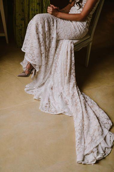 Lace Inbal Dror Wedding Dress | Barcelona Destination Wedding Weekend | Marcos Sanchez Photography