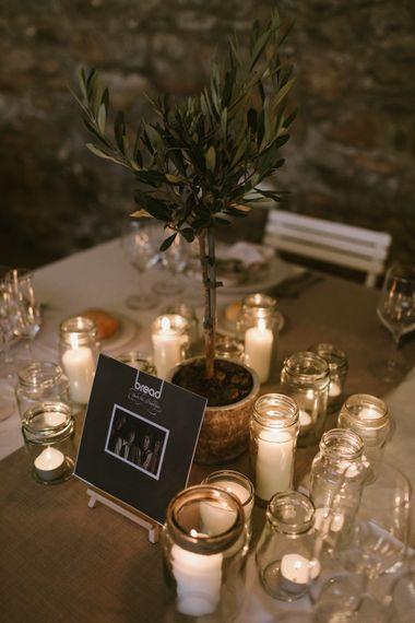 Candle Light Centrepiece | Barcelona Destination Wedding Weekend | Marcos Sanchez Photography