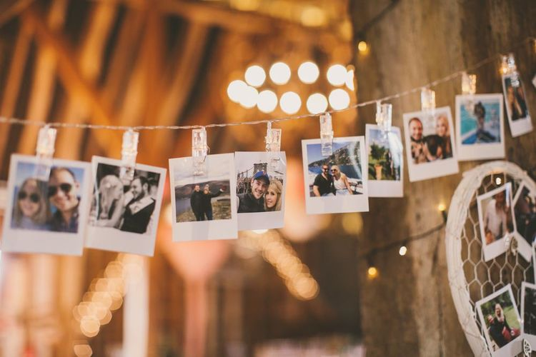 Polaroid wedding picture bunting decoration