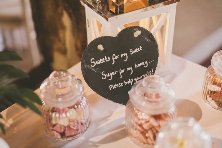 Sweet table and chalkboard wedding sign