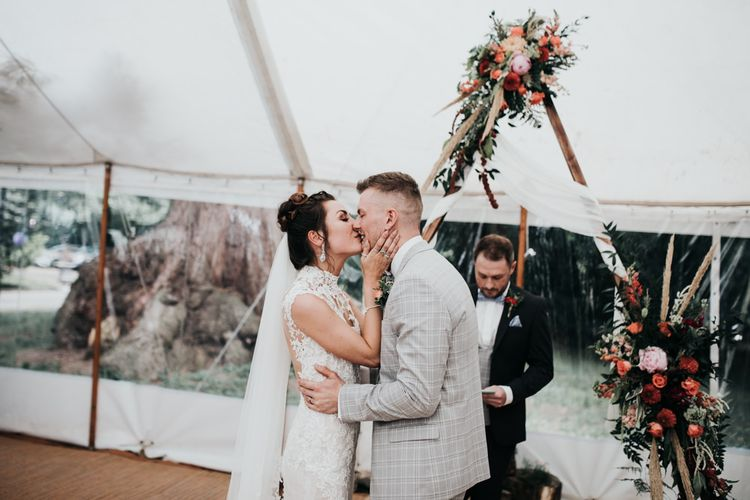 Marquee Garden Wedding with DIY Decor