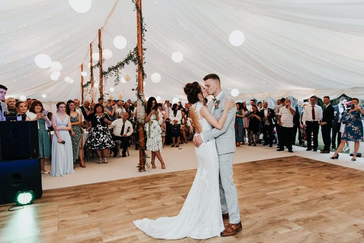 Bride and Groom First Dance Marquee Wedding