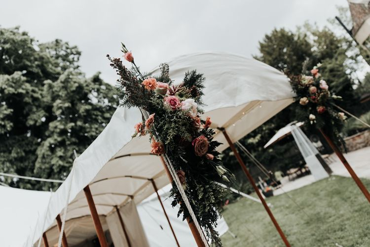 Marquee Wedding with Bright Floral Decoration